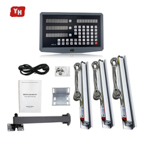 level measuring instrument tools 3 axis digital screen SNS 3V and 3 pcs 1u 500mm linear encoder for milling/lathe machines