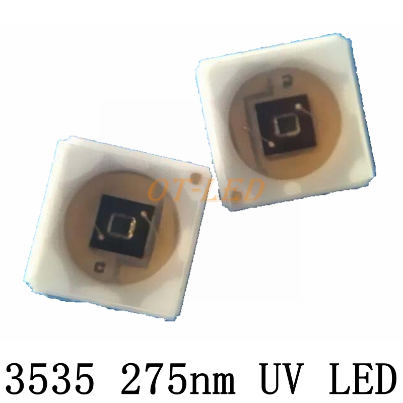 High Power SMD SEOUL SVC 3535 UV Led Chip Light 275nm Led Diode 20mA 6V for Sterilization/medical treatment with 20/16mm PCB