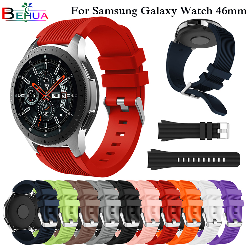 Sport Silicone Wrist Band for Samsung Galaxy Watch 46mm SM-R800 Strap for samsung Galaxy Watch 42mm SM-R810 Smart watch Straps fashion woven nylon watch band loop strap for samsung galaxy watch 42 46mm colorful wrist band strap for samsung sports straps