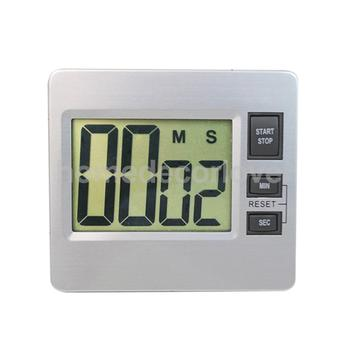 Digital LCD Bathroom Kitchen Wall Alarm Clock Countdown Up Set-up Timer Watch for Spa Sports Cooking Baking Racing Homework digital clock