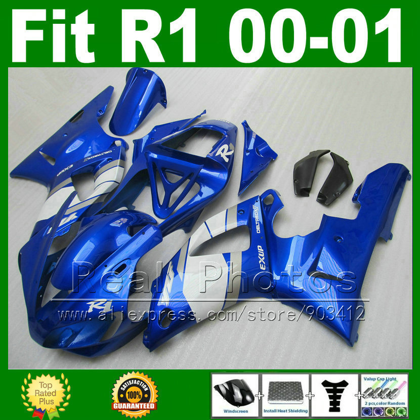 Stesso come si vedendo carenature per YAMAHA YZF R1 2000 2001 kit carenatura YZFR1 00 01 1000 YZF-R1 carrozzeria kit parti in plastica M9B7