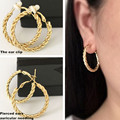 2017 Earrings for women Ear clip Gold silver Fashion jewelry without pierced lady 30MM 40MM female classic style Pretty generous