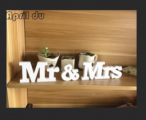 1 шт. мистер и миссис Свадебные деревянный знак деревянные буквы декора Столешница стоял