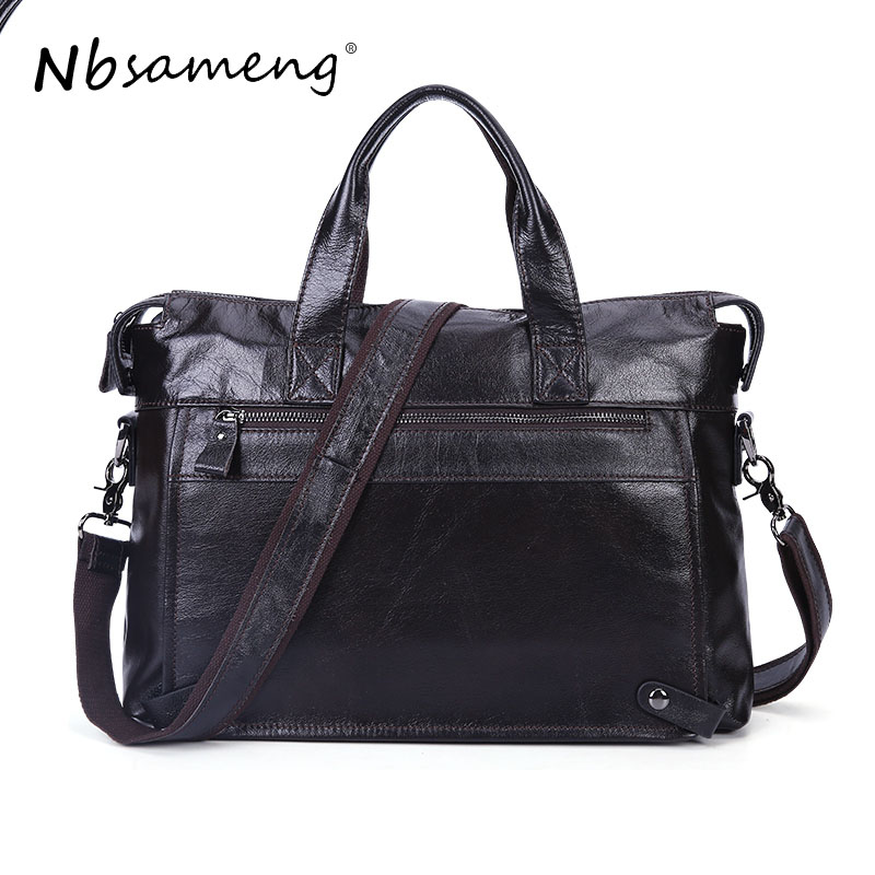 NBSAMENG  Genuine Leather Men Messenger Bags Male Casual Laptop Briefcases Tote Shoulder Crossbody Bags Mens Business Office Bag men crossbody bag messenger shoulder handbags cowhide genuine leather casual business satchel mens bags for male high quality