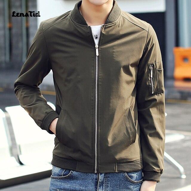LensTid Bomber Jacket Men Brand Clothing Male Spring Summer Thin Coat Top Quality Black MA1 Bomber Jacket #RK24