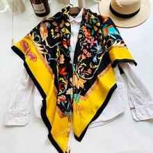 Najwyższej klasy jedwab kaszmirowy szalik dla kobiet koc zimowy szaliki peleryna szal
