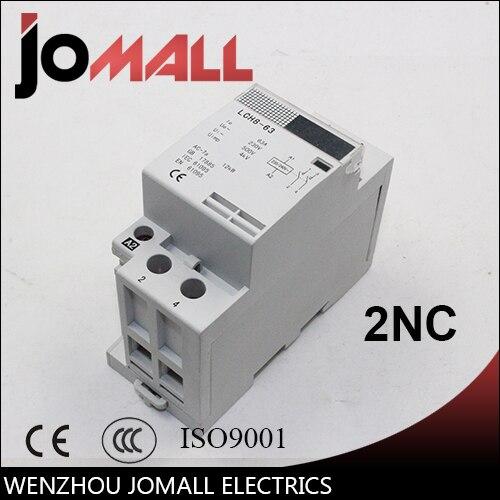 2 P 40A 220 V/230 V 50/60 HZ trilho din ac casa contator 2NF
