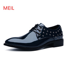 Designer Men Formal Shoes Leather Wedding Zapatos Hombre Shoes Sapato Masculino Italian Brand Schuhe Herren Men Dress Shoes цена 2017