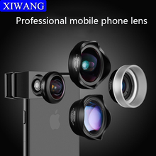 Mobile Phone Camera Lens Universal 4-in-1 Fish Eye Photo Lens for iPhone 6 7