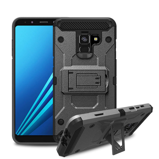 size 40 0b6a6 8c0b8 US $4.49 10% OFF|For Galaxy A8 2018 Shockproof Armor Case Heavy Duty Belt  Clip Holster Back Cover For Samsung Galaxy A8 2018/A5 2018 A530 A530F-in ...