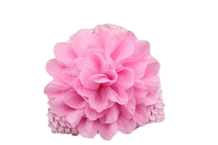 NEW Fashion child infant hair accessories chiffon flower crochet baby cap knitted hat kids todder baby accessories 10pcs/lot 10pcs lot small flower baby kids hair