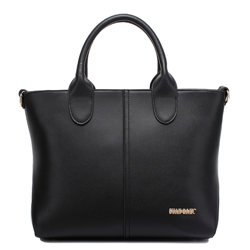 ФОТО Women Leather Handbags Fashion Large High Capacity Shoulder Messenger Tote Bags Famous Brand Style for Shopping and Office