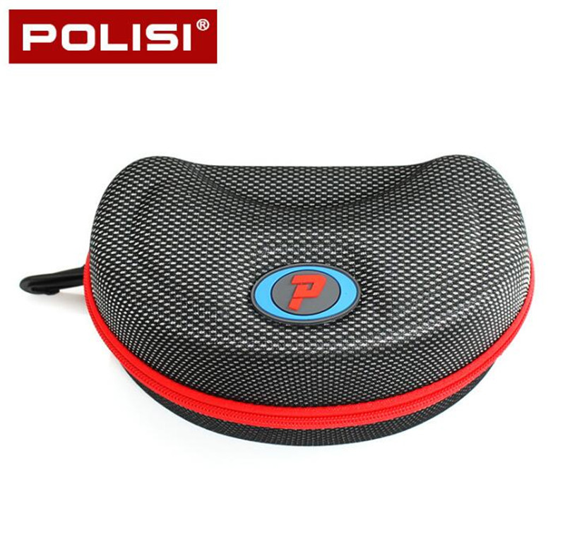 POLISI Ski Snow Glasses Snowboard Goggles Hard Protective Carrying Case Motorcycle Bike Sunglasses Protection Cover Zipper Box