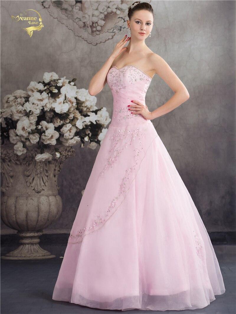 Vestido De Debutante Gaya Klasik Sweetheart Blue Pink A Line Sulaman - Gaun acara khas - Foto 3