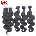 6a Peruvian Body Wave With Closure 3 Bundles Weaves Human Hair Weft With Closure Unprocessed Perucian Virgin Hair With Closure