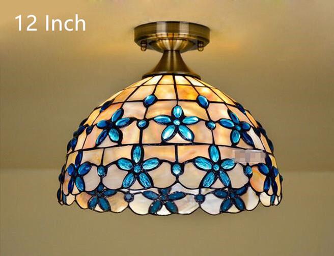 Blue Lilac Ceiling Light 16