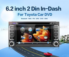 "6.2 ""200*100 автомобиль DVD Радио стерео видео плеер GPS для Toyota Hilux Vios Camry Corolla Прадо RAV4 Prado 2004 2005 2006 2007 2008"