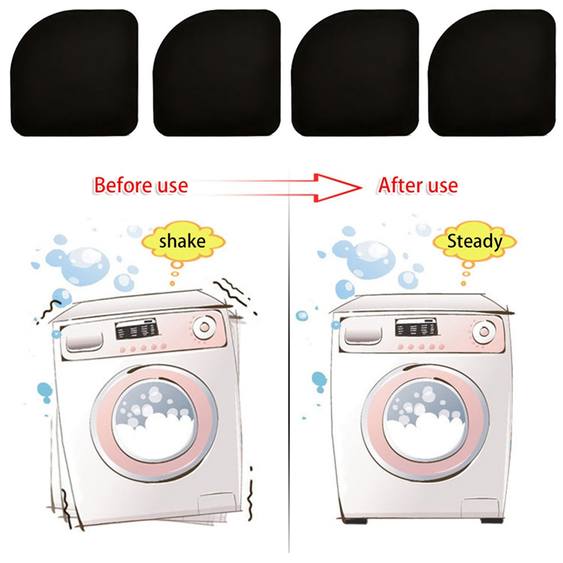 4pcs/set Washer Shock Slip Mats Reducing Refrigerator Anti-vibration Noise Pad Washing Machine Shock Proof Mat