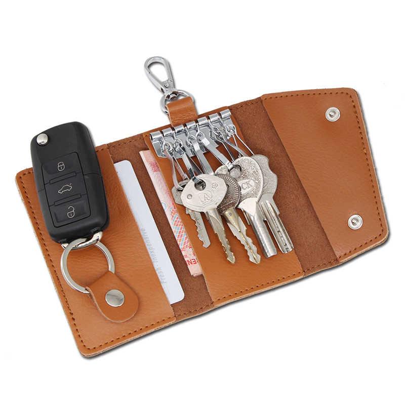 KOSOO авто аксессуары сумка для автомобильных ключей держатель из натуральной кожи ключница Автомобильный ключ кошелек чехол автомобильный брелок для женщин и мужчин бесплатная доставка