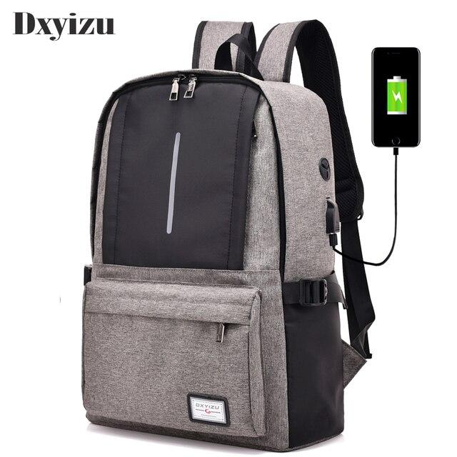 100% authentique 68c6c c851a € 16.88 49% de réduction|2019 USB Charge hommes adolescent ordinateur  portable voyage sac à dos collège sac à bandoulière cartable étudiants mode  ...