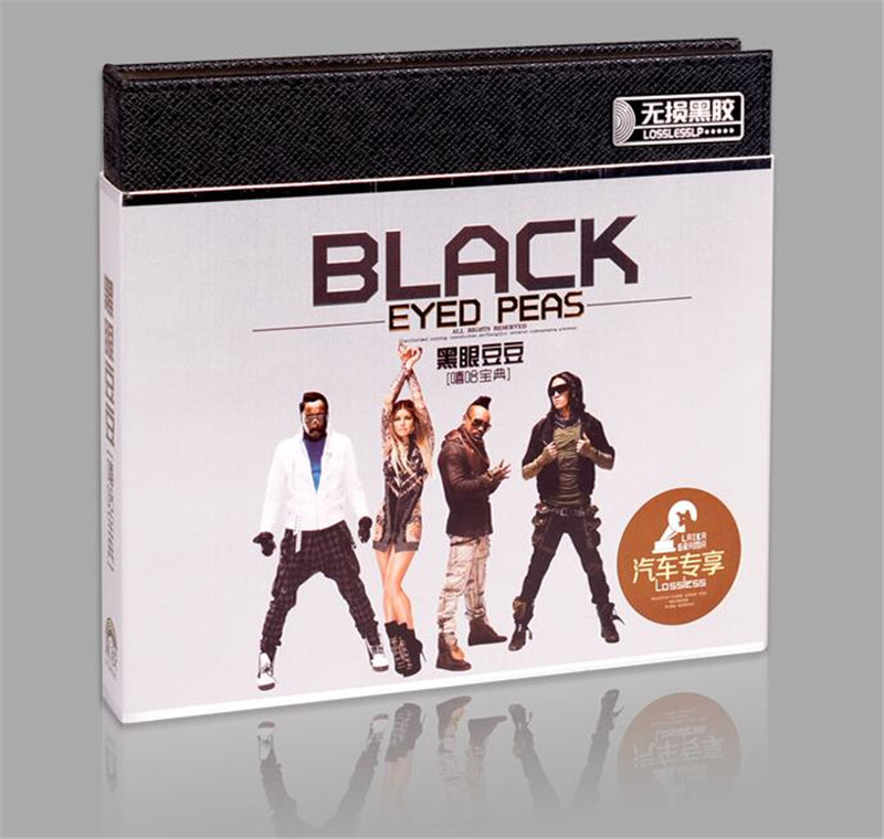 Free Shipping: Car 3CD Music Classic Black Eyed Peas Hiphop Song Vinyl Seal