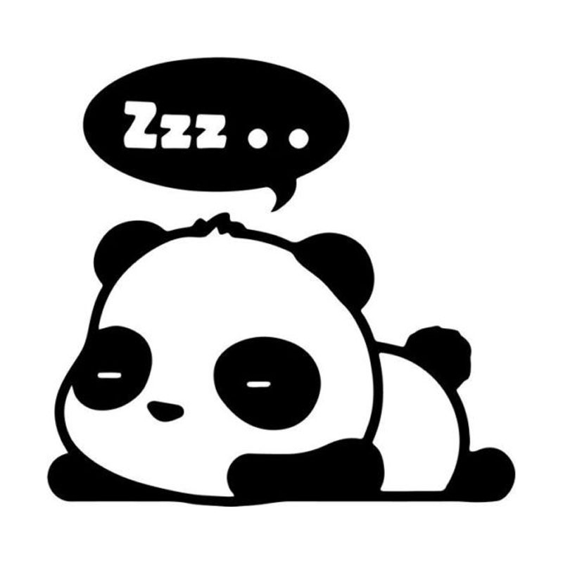 15cm car styling cartoon cute panda sleeping zzz stickers c5 1558 in car stickers from - Sommeil dessin ...