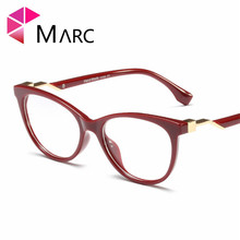 MARC Spectacle Frame NEW Cat Eye Glasses Plastic Clear Lens Women Brand Black Red glasses Trend