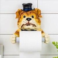 Creative toilet paper towel rack 3D simulation dog tissue storage organizer tissue box bathroom accessories Bathroom Products