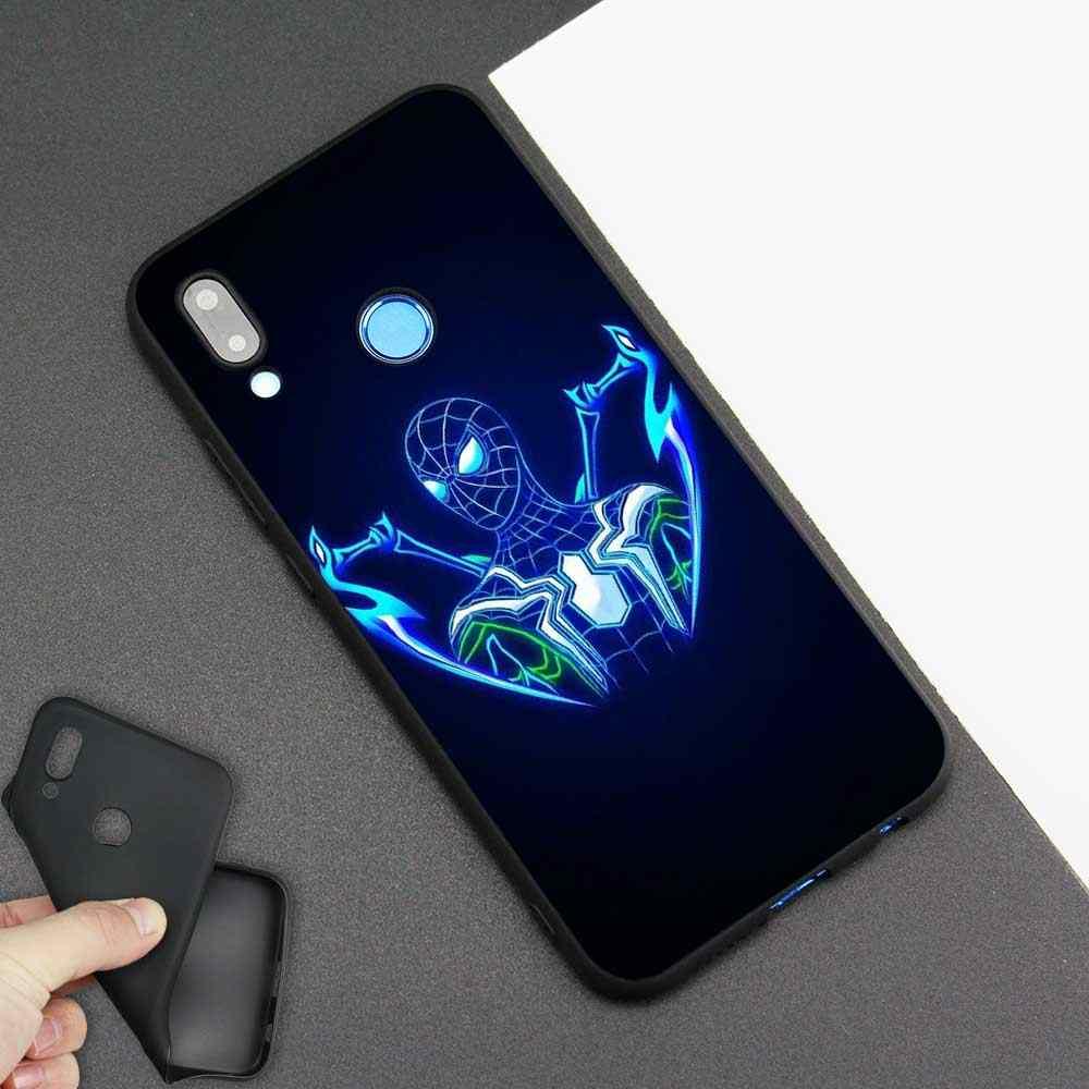 Màu đen Silicone Dẻo cho Huawei Honor 8X 8C 8A 10 20 Y6 Y9 2019 Lite Chơi Thưởng Thức 9 S 9E 20i Điện Thoại Mùa Thu Marvel Trả Thù Cho