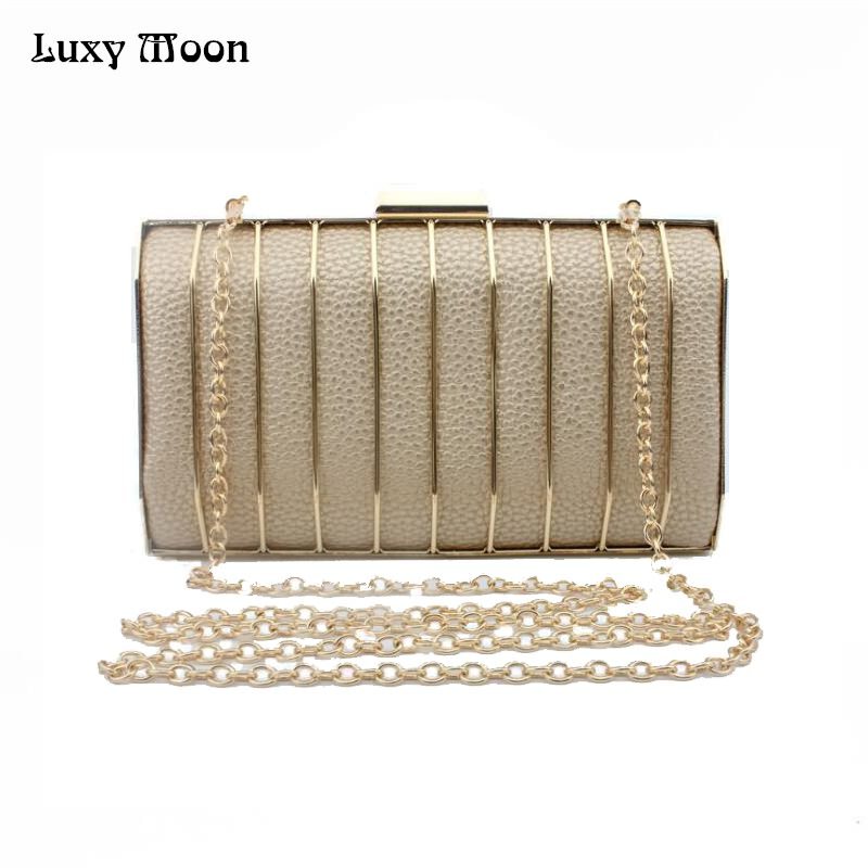 2017 Fashion Metal Clutch Bag Gold Silver Black Evening Bags Day Clutches Purse Wedding Bride Handbag Small Totes Woman ZD599