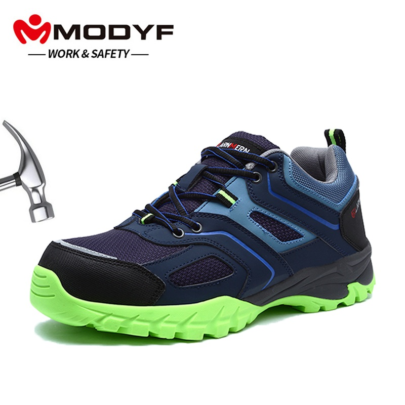 MODYF Men s Steel Toe Work Safety Shoes Lightweight Breathable Anti Smashing Anti puncture Non Slip