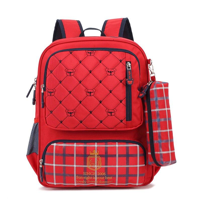 1b0a15ca0bc1 Nylon Polyester waterproof plaid kids backpacks children school bags  mochilas infantis escolars bolso for teenagers girls boys