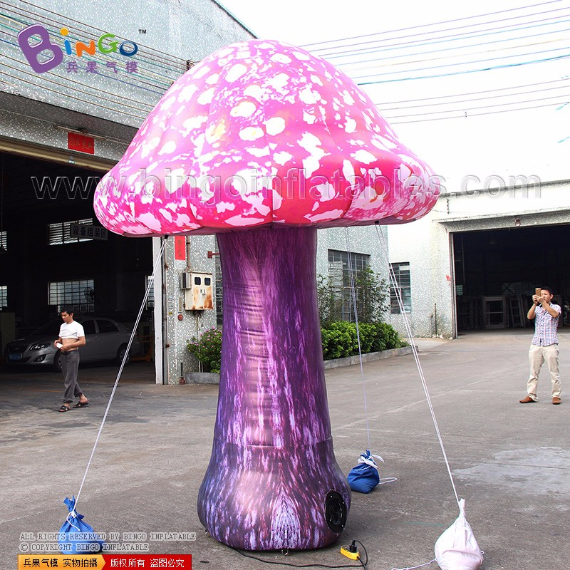 inflatable mushroom with led lighting for stage 3m high (4)