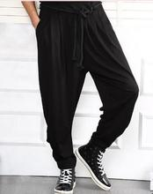 2017 new korean fashion casual harem pant skinny casual pants plus size Men singers dancer stage show pant cross-pant !