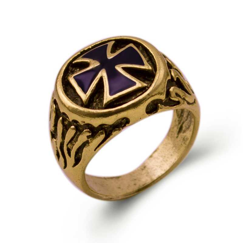 New Arrival cross Knights Templars ring menunique jewelry exquisite men biker ring US Size 8-11