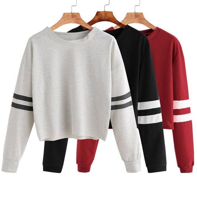 d73c1dc42 Wholesale Women Hoodies Pullover 2018 Autumn Coat Winter Loose Fleece Thick Knit  Sweatshirt Female 3Colors S-XL T8