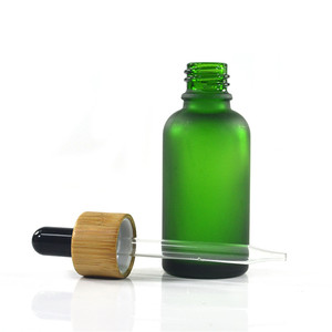 Image 4 - 100pcs 30ml essential oil glass bottle 1oz glass dropper bottle with bamboo cap glass essential oil bottle cosmetic packaging