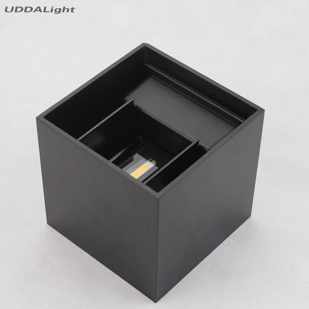 Регулируемая настенная лампа с регулируемой яркостью 7 Вт 12 Вт боковая лампа для спальни черный/белый