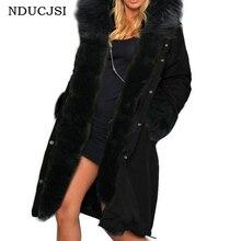 NDUCJSI женское теплое пальто зимнее пальто утолщенное тонкое длинное пальто Женская куртка черная армейская зеленая Женская куртка Горячая Распродажа хлопковых топов
