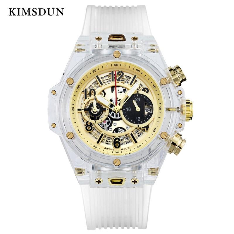 Sport Watch Women Ladies Couples Watches Waterproof Transparent Silicone Watch Men Gift Luxury Brand Fashion Wristwatch 2019