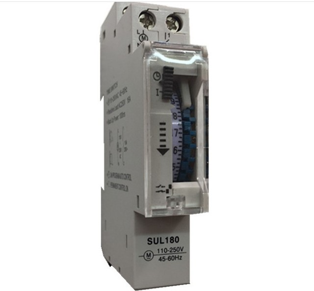 SUL180A 15 Minutes Mechanical Timer 24 Hours timer Switch Programmable Din Rail Timers Measurement Analysis Instruments