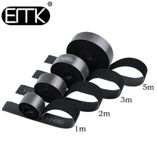 EMK Nylon hook and loop fastener buckle for cable Earphone Holder Mouse Cord Cable Winder Clip 1m 2m 3m 5m Cable Organizer Wire 20pcs pack self adhesive wire organizer line cable clip buckle plastic clips ties fixer fastener holder
