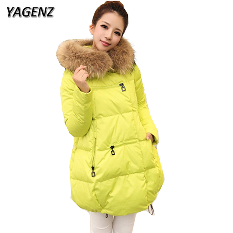 Large size Hooded Jacket Women Winter Coats 2018 Loose Medium long Down cotton Jacket Women Parkas Warm Big Fur collar Outerwear цена