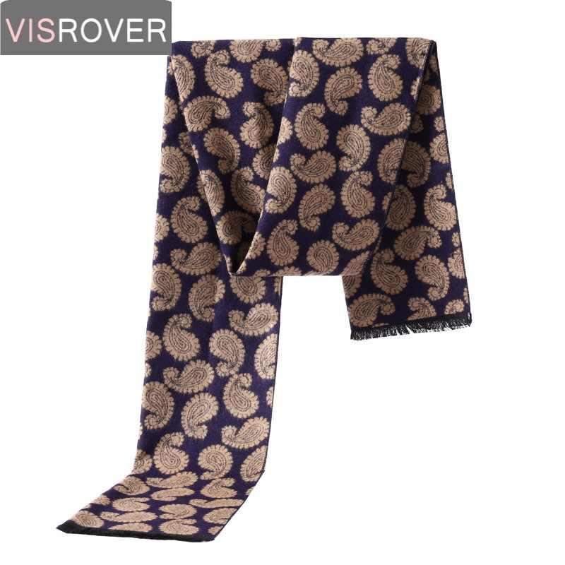 Visrover 3 配色冬スカーフ男性カジュアルビジネススカーフウールカシミヤ男性スカーフ高級ブランド Plaisey チェックショール