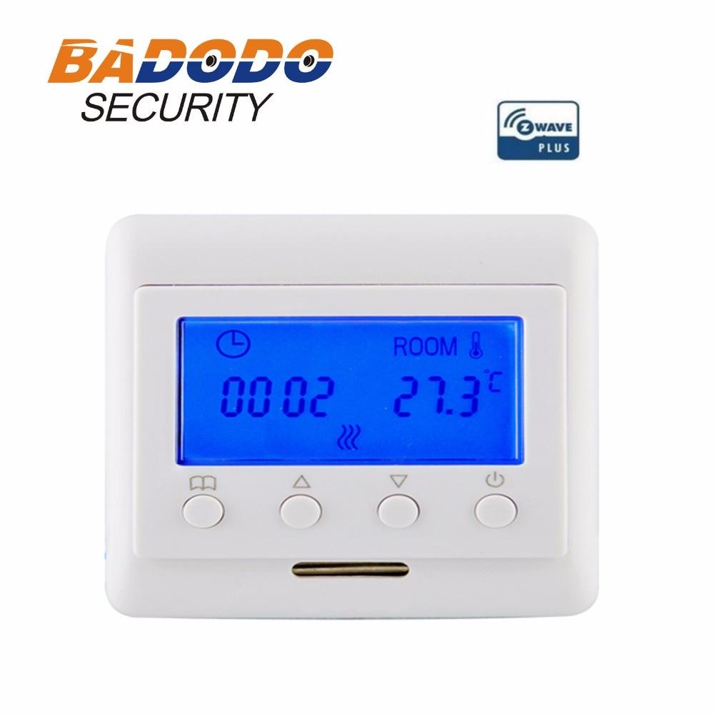 EU868 42MHz Z Wave plus Smart temperatureThermostat electric heating for Floor Heating temperature control