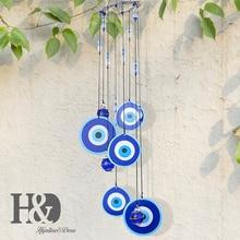 H& D индейка сглаза колокольчики Ловец снов подвеска амулет домашний настенный Декор подарок для защиты от благословения(синий