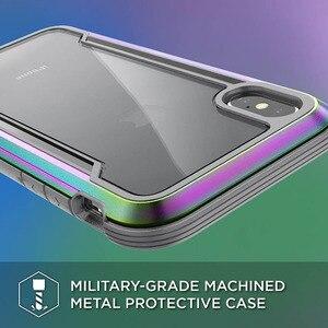 Image 3 - X doria Défense Bouclier Téléphone étui pour iPhone XR XS Max De Qualité Militaire Baisse Examinée Cas Coque Pour iPhone X XS Max Couvercle En Aluminium