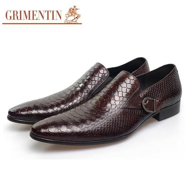grimentin moda italiana zapatos de vestir para hombre cuero genuino