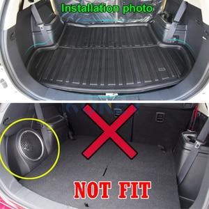 Image 3 - Fit עבור מיצובישי הנכרי 2013 2020 האחורי Trunk אתחול אוניית מטען מחצלת מגש רצפת שטיח בוץ בעיטת מגן 2014 2015 2016