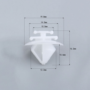 Image 2 - Крепежные зажимы для панели автомобиля D150, крепежные зажимы для пластиковых заклепок Citroen Peugeot, 50 шт.